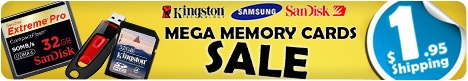 MEGA Memory Cards SALE - Up to 75% Off RRP