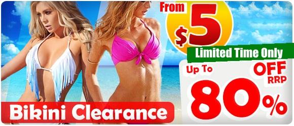Save up to 80% off swimwear & beachwear clearance at ShoppingSquare.com.au