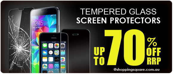 Save up to 70% off RRP tempered glass screen protectors at ShoppingSquare.com.au