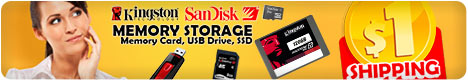 $1 Shipping for All Memory Cards and Accessories