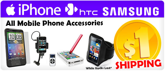 $1 Shipping for Mobile Phone Accessories