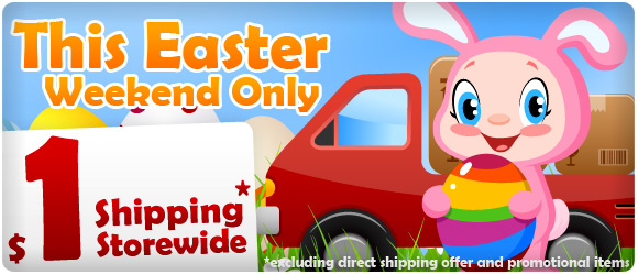 This Easter long weekend only with $1 shipping storewide at ShoppingSquare.com.au