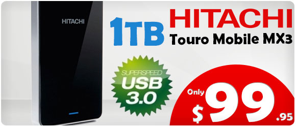 $99 - 1TB Portable Hard Drive USB 3.0