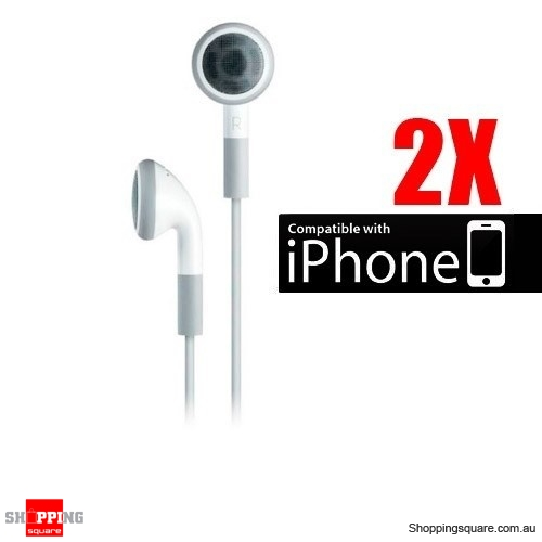 2pcs iPod Stereo Earphone, also for iPhone MP3 Player White