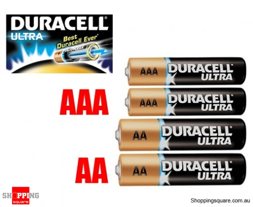 Duracell Ultra Alkaline Batteries - 2xAA + 2xAAA Bundle