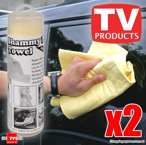 2x Shammy Pro Towel - Absorber Synthetic Chamois Towel