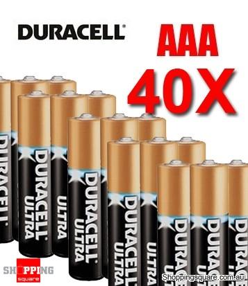40 x AAA Duracell Ultra Alkaline Batteries