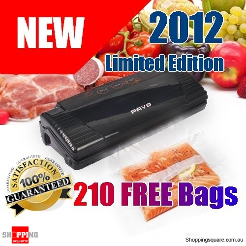 New 2012 Food Vacuum Sealer with 210pcs Sealer Bags