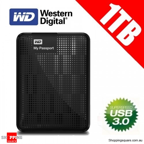 Western Digital My Passport 1TB USB 3.0/USB 2.0 Portable Hard Drives ( WDBBEP0010BBK) AU