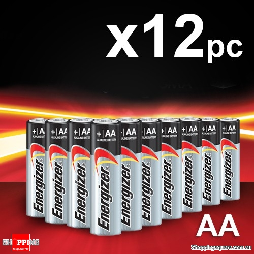 12x Energizer Max Alkaline AA Battery