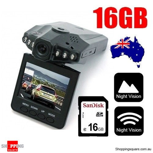 Portable Dash DVR Car Video Vehicle Camera Bundle Sandisk 16GB SD Card