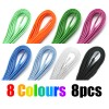 8 Pairs 120cm Shoelaces 8 Colours Bundle
