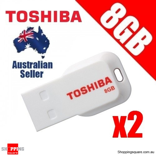 2x Toshiba 8GB Mini USB 2.0 Flash Drive PA5003A-1M8R