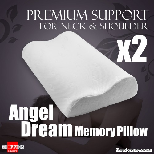 Angel Dream Memory Foam Pillows x 2