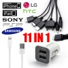 11 IN 1 - 3.1Amp Dual Port USB Car Charger for iPhone iPad iPod SAMSUNG LG NOKIA HTC Sony PSP