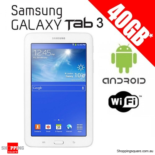 Samsung Galaxy Tab3 40GB (8GB + 32GB) T110 Wifi White Bundle