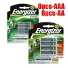 Rechargeable Energizer 8x AAA + 8x AA Battery Pack Bundle