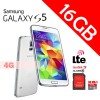 Samsung Galaxy S5 LTE 4G 16GB G900 Smart Phone White With SanDisk 32GB MicroSD Ultra Class 10