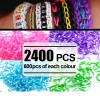 2400 X Rainbow Loom Rubber Bands Refill Polka Dot 4 Colour Assortment Bundle