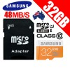 Samsung 32GB EVO UHS-I Micro SDHC Memory Card Grade 1 Class 10 48MB/s With Micro SD Adapter