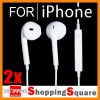 2 pcs Earphone Earpods Remote MIC For Apple IPHONE 5 4S 4 Ipod Touch New IPAD 3 4 Mini