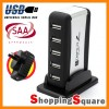 7 Port USB 2.0 High Speed HUB + SAA Certified AC Adapter