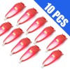 10Pcs Superbright Safety LED Silicone Bike Bicycle Head Rear Wheel Frog Light Red Colour
