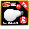 2 X Premium LOYAL™ Super Bright 7W B22 Cool White LED Light Bulb Lamp 6500KHz 700LM