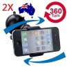 2X 360 Degree Universal Car Holder for iPhone 6 6 Plus 5S, Samsung Galaxy Note 4 S5, GPS