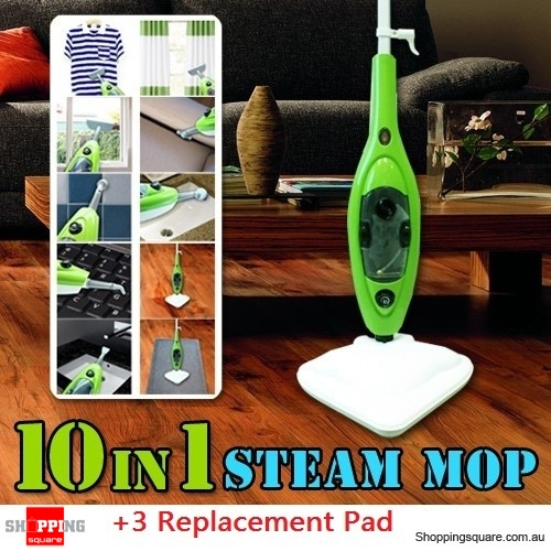 10 IN 1 Multifunction 1500W Steam Mop + 3 Replacement Pad