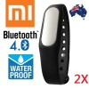 2X 100% Genuine Xiaomi Mi Band Smart Wrist Fitness Wearable Tracker Bracelet Watch Black Colour