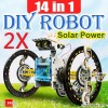 2X 14 in 1 Solar Power Assembly Robot Toy Kit Bundle