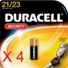 4 x Duracell A23 12V Alkaline Battery For Car Remote Alarm Garage MN21B6