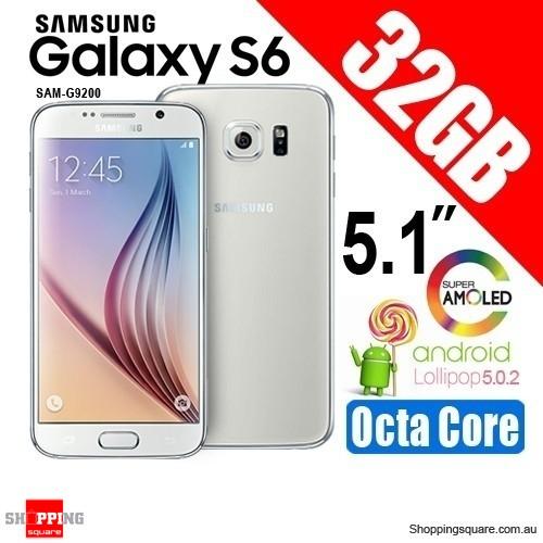 Samsung Galaxy S6 SM-G9200 Dual-Sim 32GB Smart Phone White - Factory Refurbished