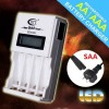BTY N903 AA/AAA Ni-MH/Ni-Cd Rechargeab​le battery Quick charger with LCD Display White Colour