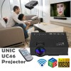 UC46 Wifi 1080P Mini LED Video Projector Supported USB/VGA/HDMI for 3D Home Theater Black Colour