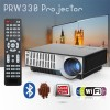 PRW330 LED Projector with Android WiFi 4000 lumens USB HDMI for Home Theater Office Multimedia Black Colour