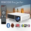 PRW330 LED Projector with Android WiFi 4000 lumens USB HDMI for Home Theater Office Multimedia White Colour