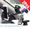 2 Pcs of Universal Car Windshield Mount Holder Cradle for iPhone 7 Plus 6S SE Samsung S7 Note 5