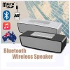 Portable HIFI Bluetooth Speaker Wireless Stereo Loudspeakers Bass Sound Box Silver & Black Set