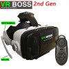 VR BOSS 2nd Generation 3D Glasses Headset for iPhone & Android Phone with Remote Controller