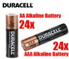 Duracell Coppertop AAA 24pc and AA 24pc Bundle