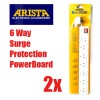2 x Arista 6 Way Power Board with Surge Protection