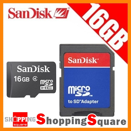Sandisk-16GB-16G-MicroSD-card-MicroSDHC-SD-Adapter-New