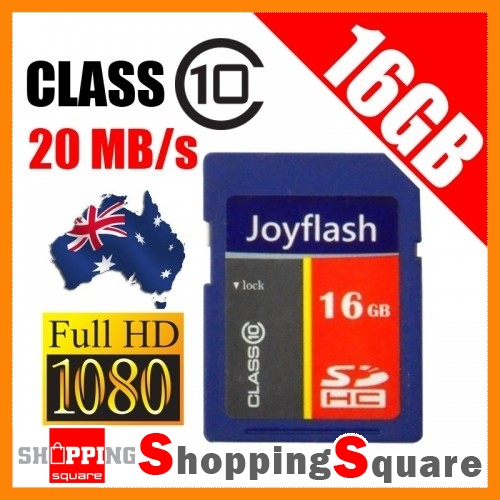 New-JoyFlash-16GB-SD-card-class-10-20MB-s-Full-HD-Video-SDHC-Video-16G-Memory