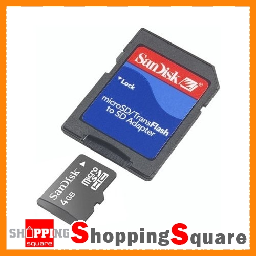 New-SanDisk-4GB-micro-SD-Card-Memory-Adapter-SDHC-microSDHC-4G-4-GB-Adaptor