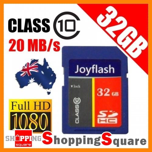 32GB-SDHC-Card-class-10-20MB-s-Full-HD-Video-SD-HC-Video-32G-Memory-NEW-AU-Stock