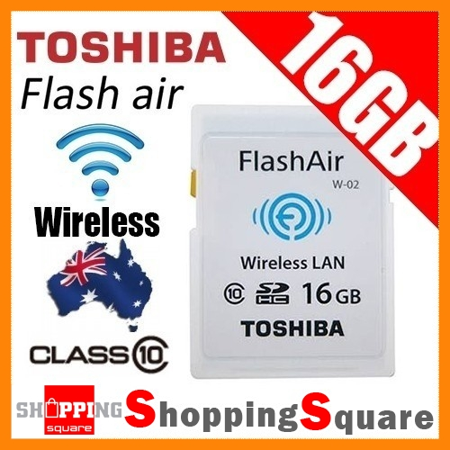TOSHIBA-16GB-FlashAir-Wireless-Class-10-minimum-write-speed-of-10MB-s-SD-Card