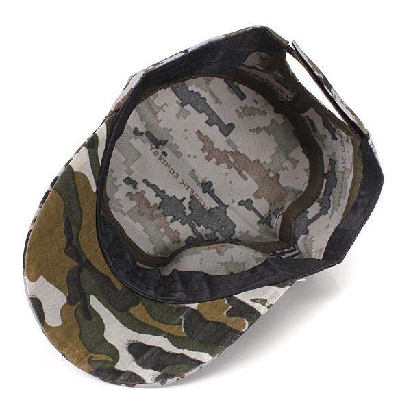 40602d4f144 Trucker Cap Flat Army Camouflage Military Soldier Hat Sport Cap ...
