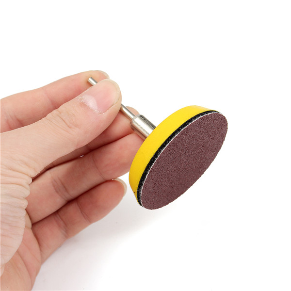 2 Inch 50mm Hook and Loop Sanding Pad 1/4 Inch Shank with 60pcs 100 to 2000 Grit Sand Paper Kit